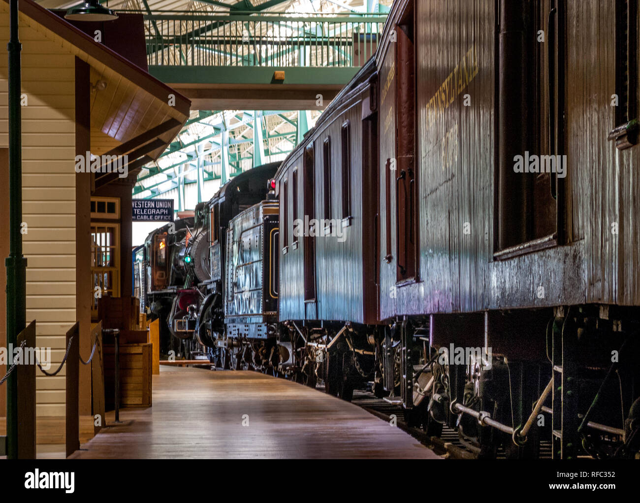 ready to depart - Stock Image