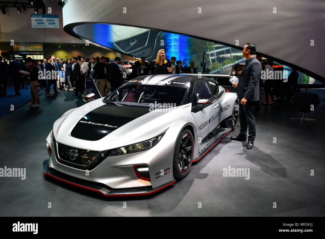 Nissan Concept car at the 2019 CES Consumer Electronics Show in Las Vegas, Nevada - Stock Image