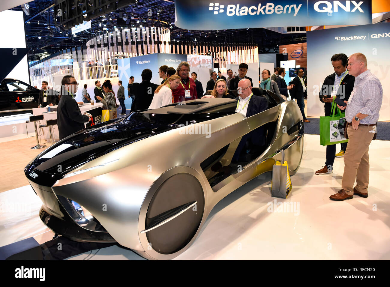 Mitsubishi Electric Concept Car at the 2019 CES Consumer Electronics Show in Las Vegas, Nevada - Stock Image