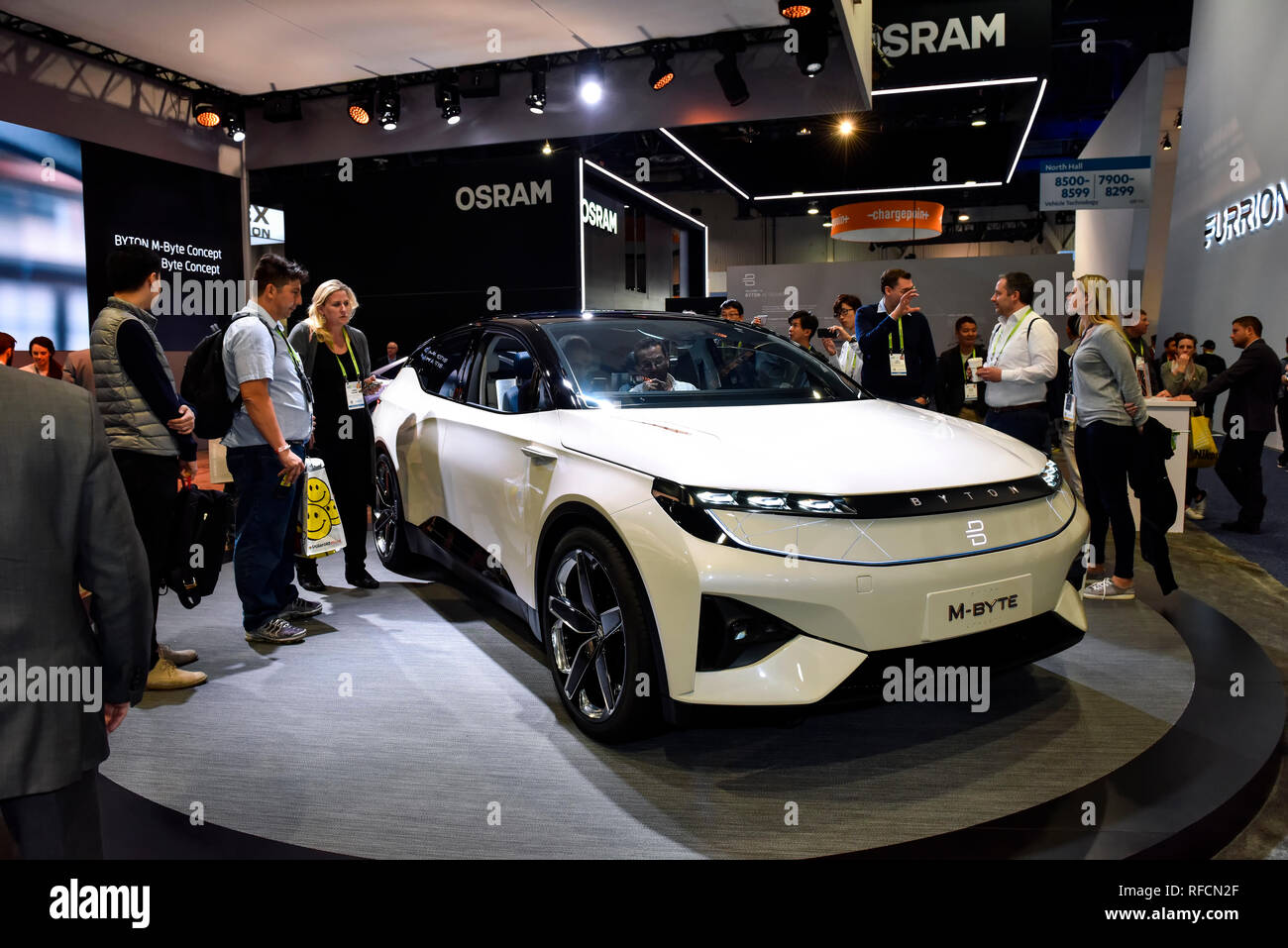 BYTON, M-Byte Concept Car at the 2019 CES Consumer Electronics Show in Las Vegas, Nevada - Stock Image