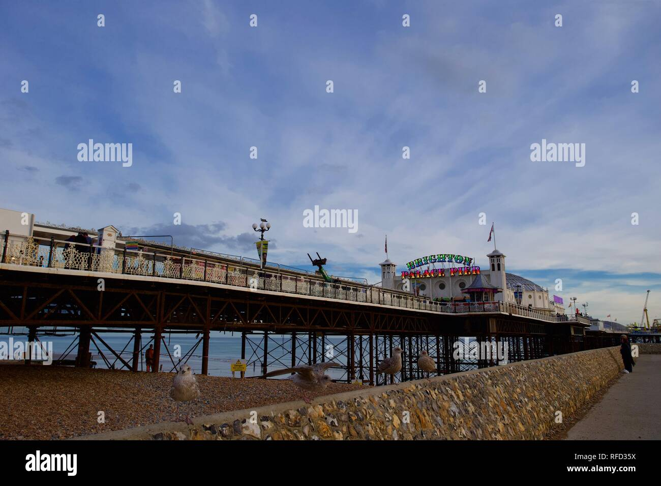 Brighton Palace Pier, Brighton, East Sussex, England. Stock Photo