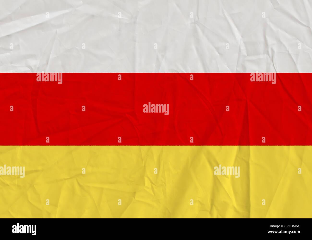 South ossetia grunge flag. Patriotic background. National flag of South ossetia - Stock Image