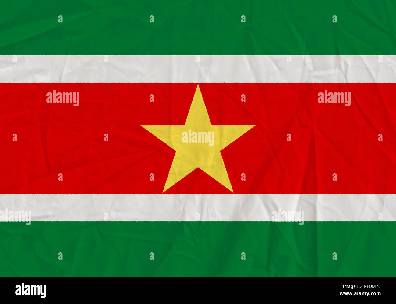 Suriname grunge flag. Patriotic background. National flag of Suriname - Stock Image