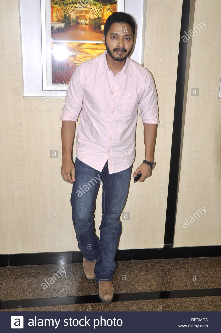 Bollywood actor Shreyas Talpade during BMDF Educational Scholarship to acknowledge academic excellence among minorities in Mumbai, India on July 6, 2013. (Deven Lad) - Stock Image