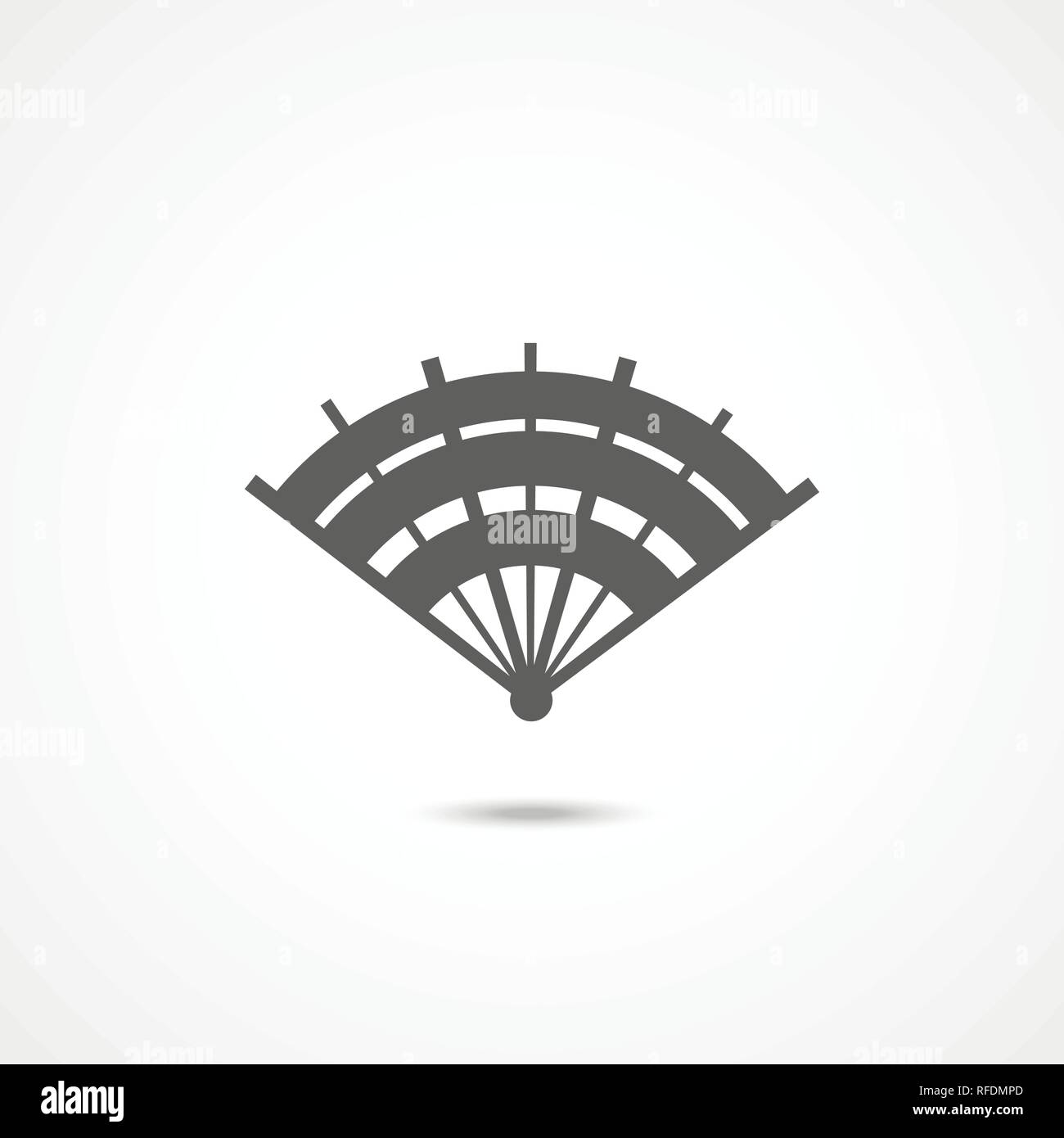 Hand fan icon - Stock Vector