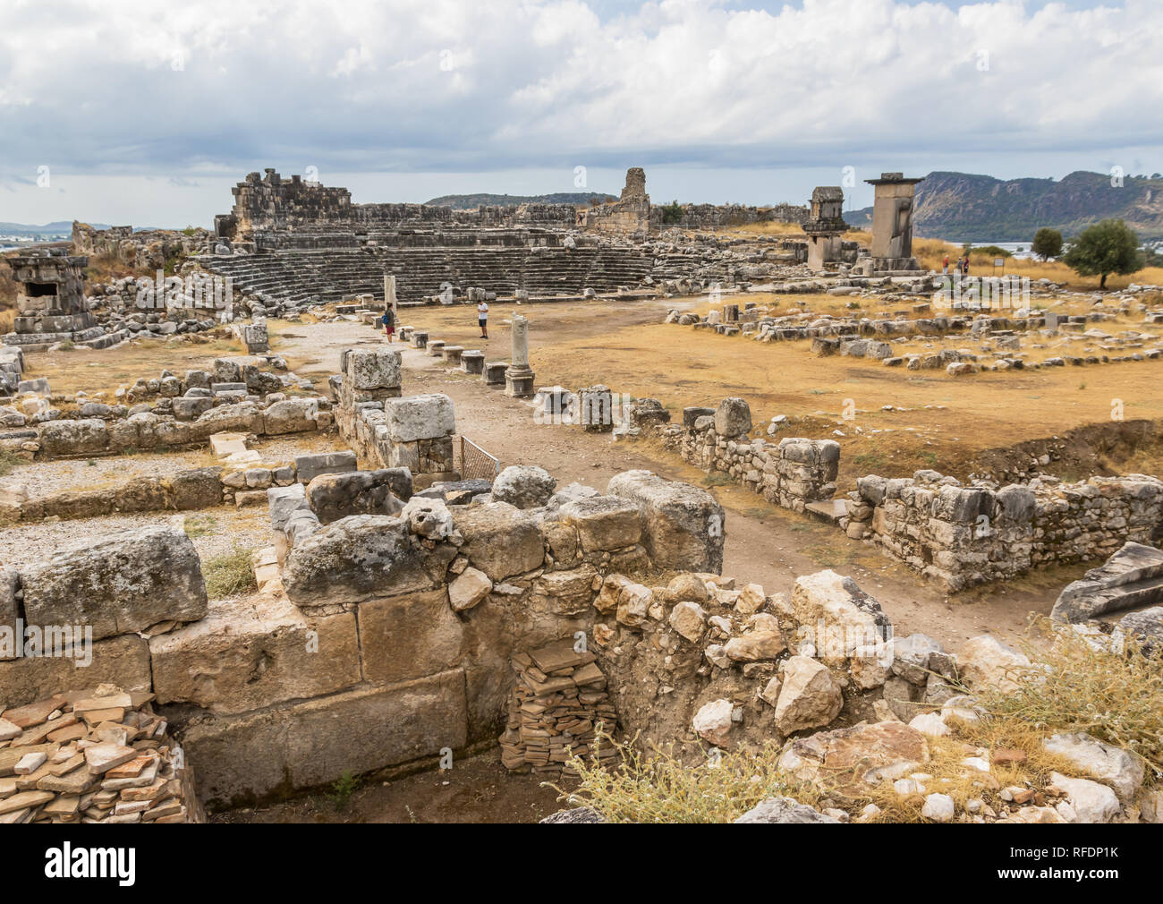 Located south of the village Kumluova, the Letoon was one of the most important religious centres in Turkey, and a Unesco World Heritage site - Stock Image
