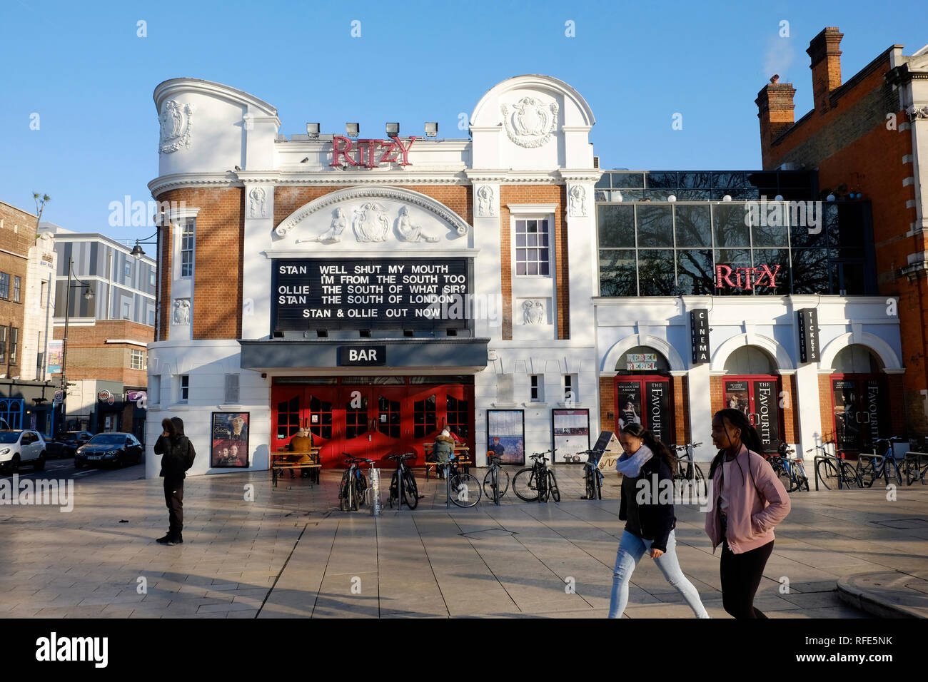 A general view of Ritzy cinema in Brixton, London - Stock Image