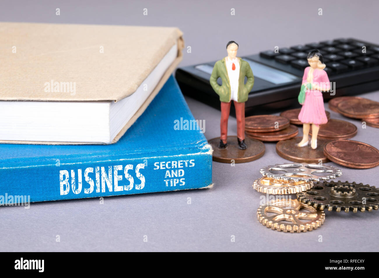 business secrets and tips concept - Stock Image