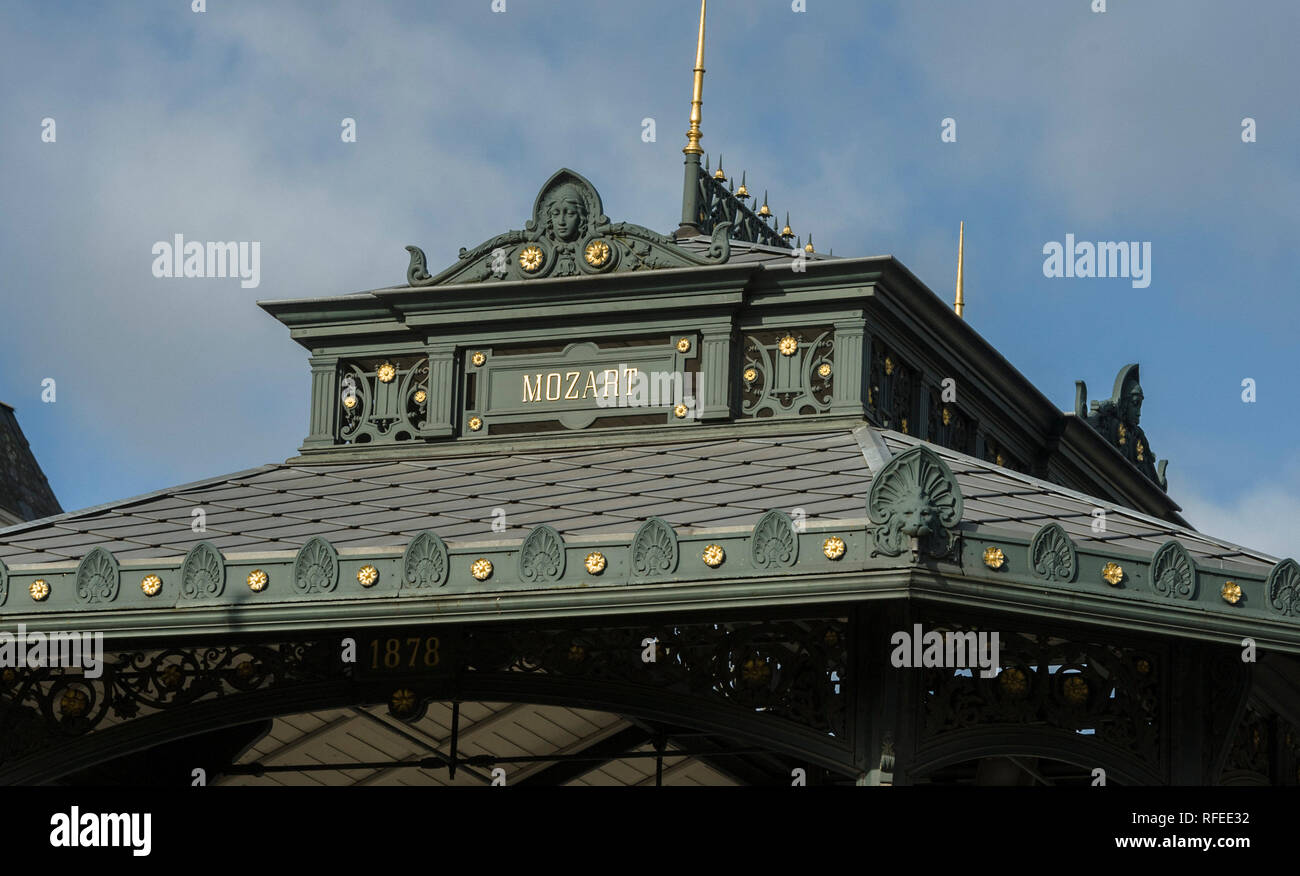 roof of the Ostend bandstand, Belgium - Stock Image