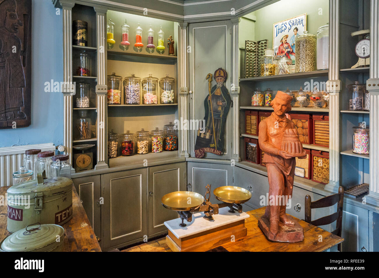 The House of Alijn museum puts the ordinary daily life of 20th century people in the spotlight in Ghent, Belgium - Stock Image