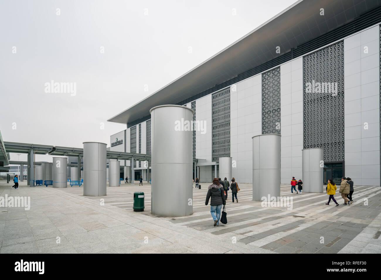 Macau, DEC 31: Exterior view of the Macau Boundary Crossing Facilities on DEC 31, 2018 at Macau - Stock Image