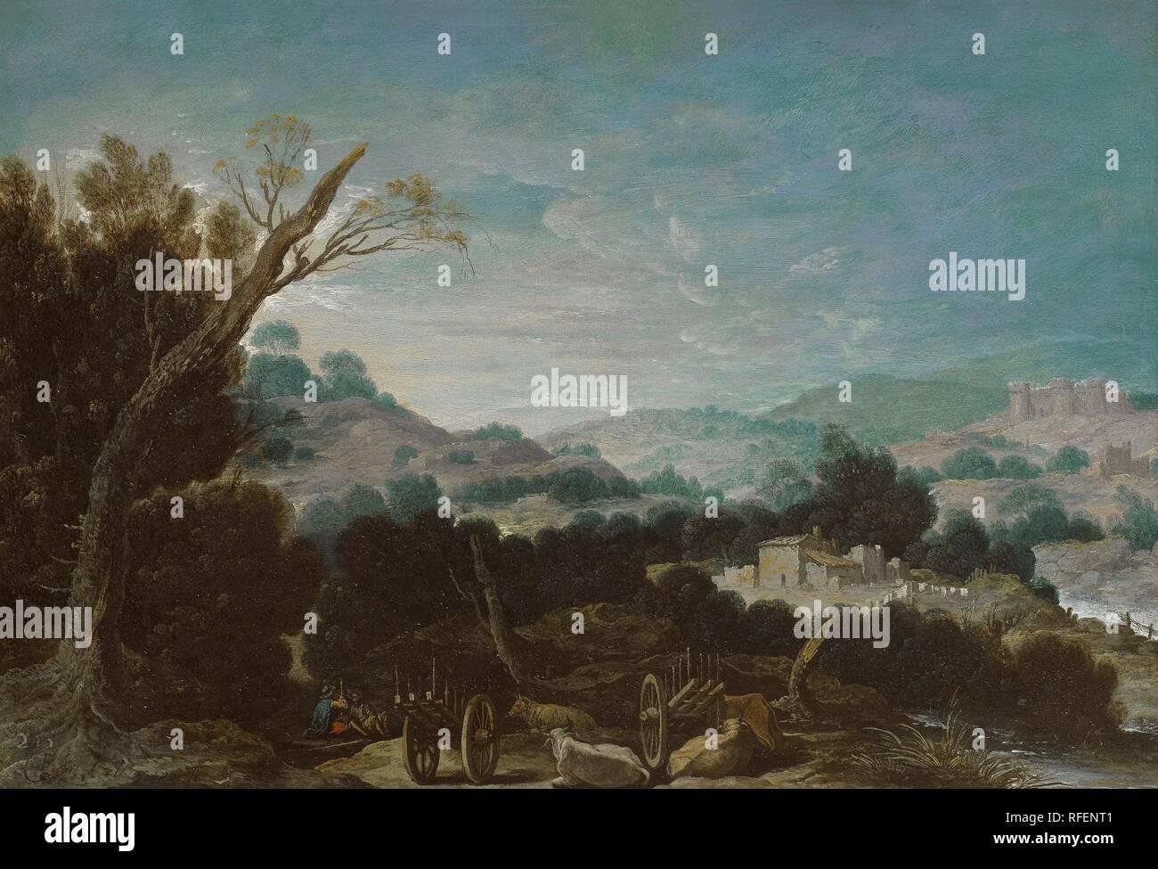 COLLANTES, FRANCISCO, Landscape with Shepherds.jpg - RFENT1 - Stock Image
