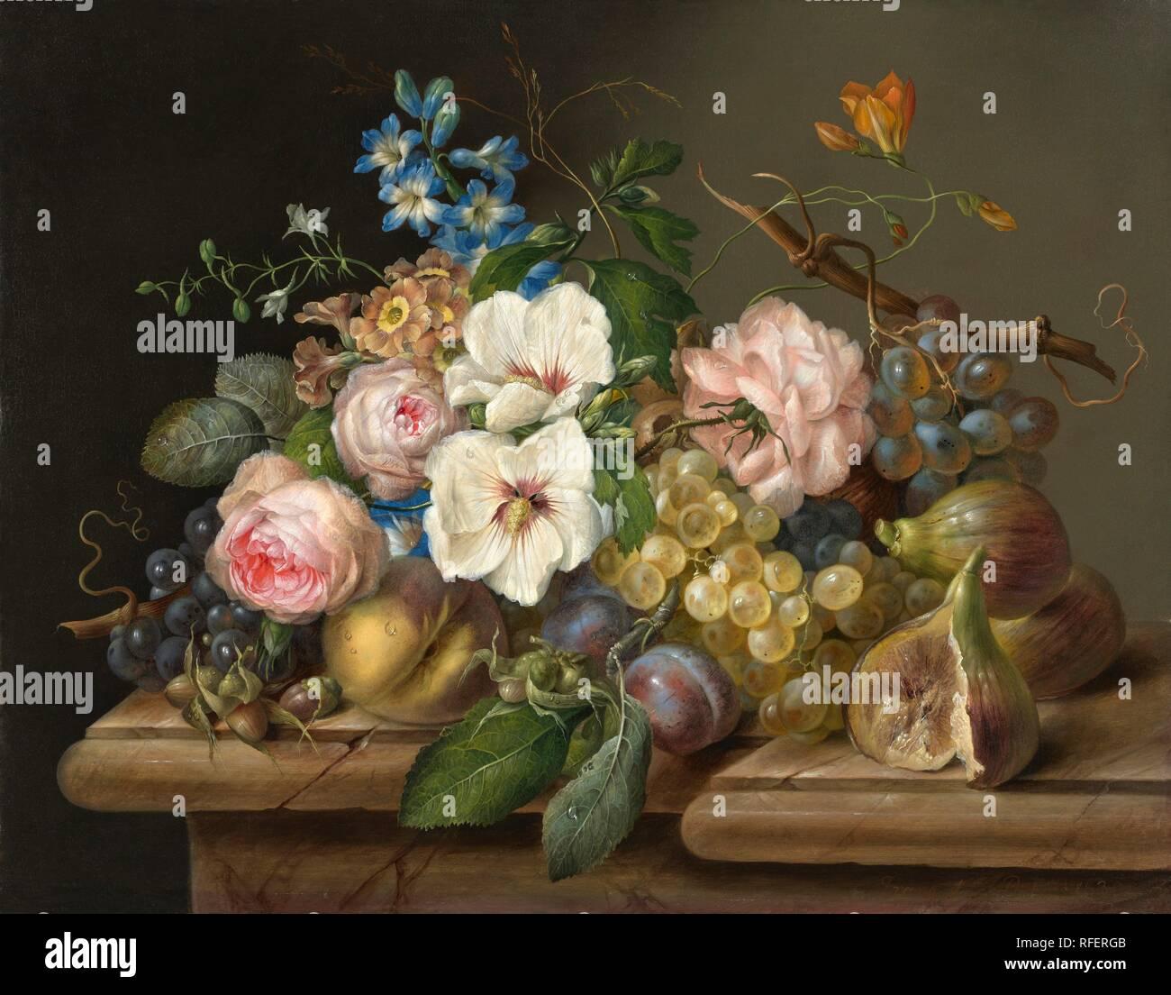 Franz Xaver Petter (1791 - Vienna - 1866) Two Flower Still Lifes, 1830.jpg - RFERGB - Stock Image