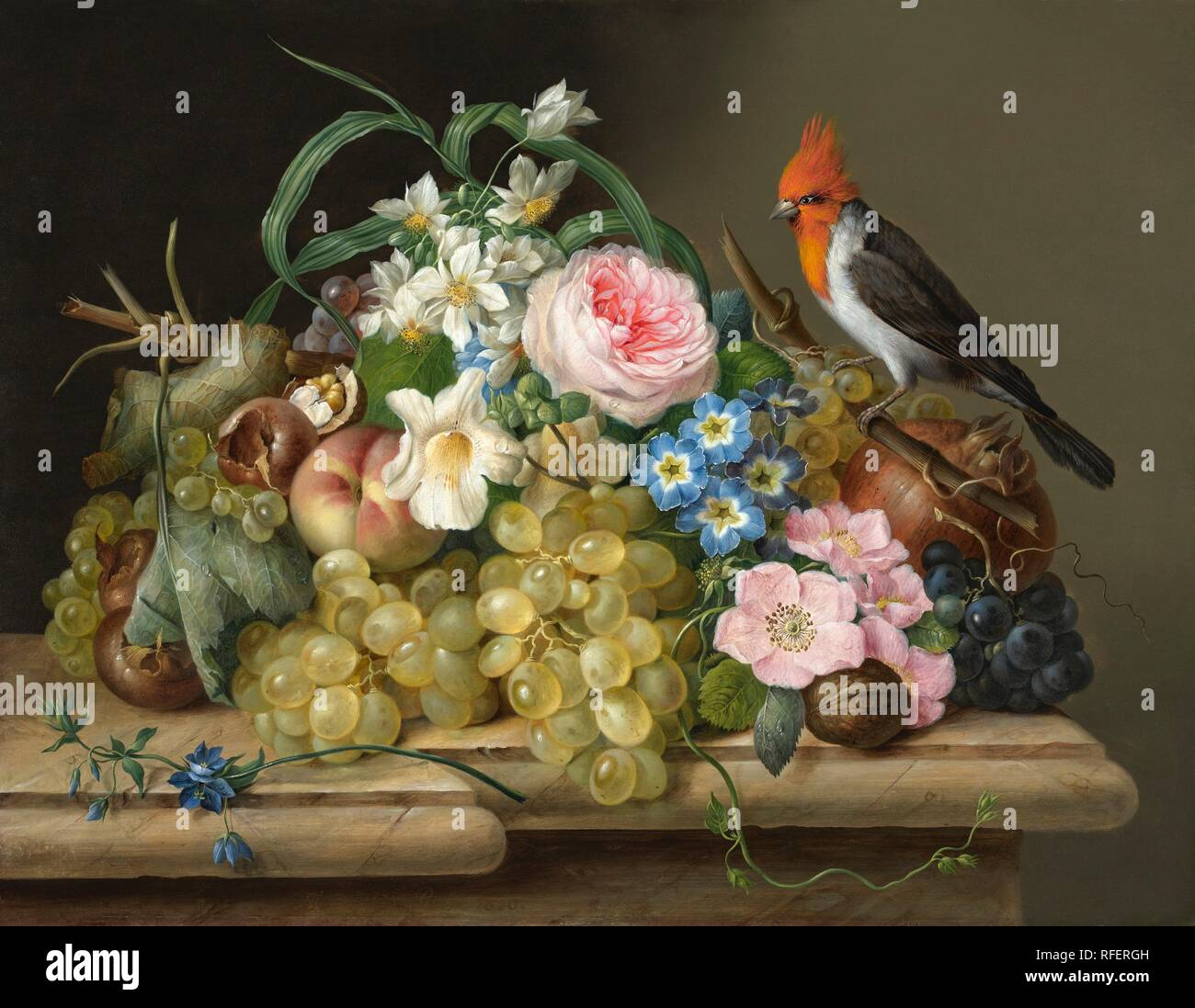Franz Xaver Petter (1791 - Vienna - 1866), Two Flower Still Lifes, 1830.jpg - RFERGH - Stock Image