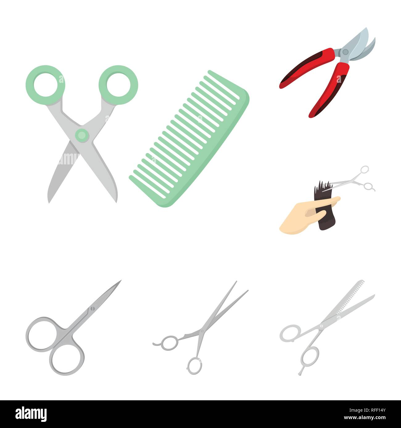 Vector Design Of Scissor And Craft Symbol Collection Of Scissor And