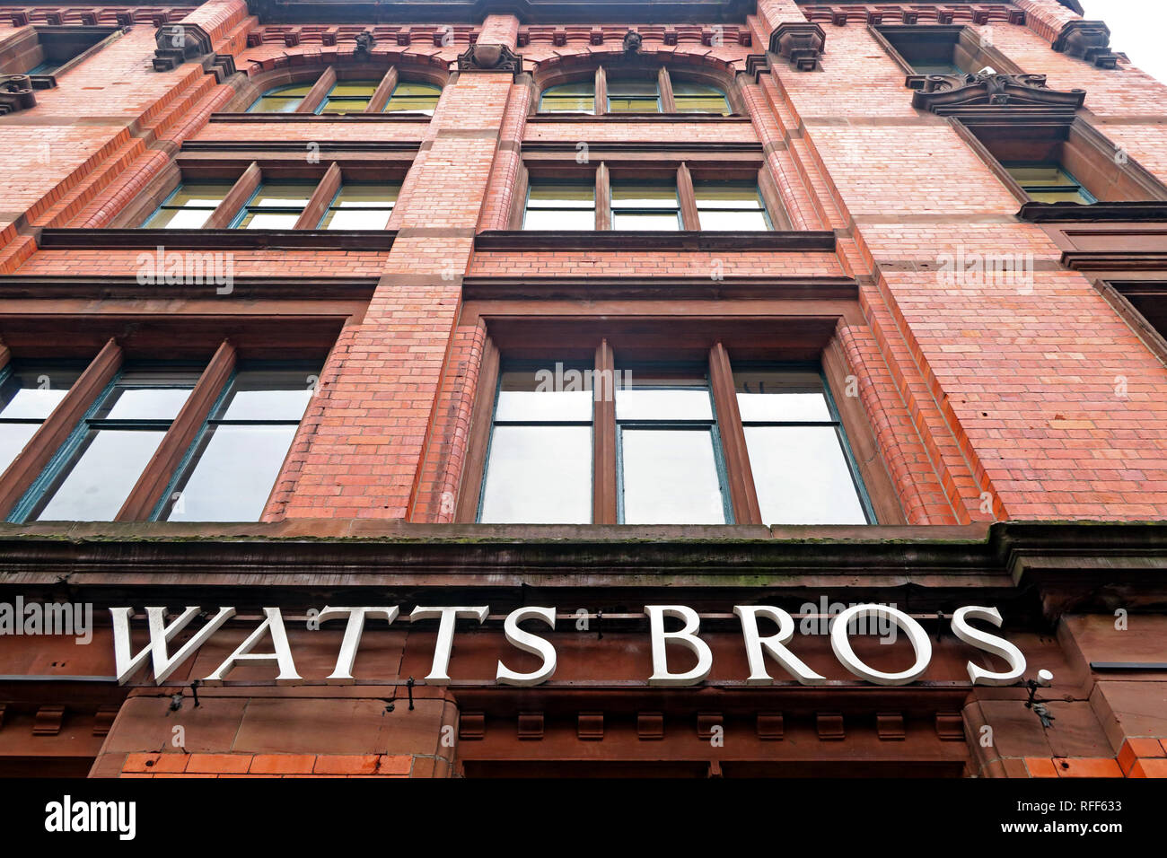 Watts Brothers building, Bunsen St, Manchester, England, UK,  M1 1DW - Stock Image
