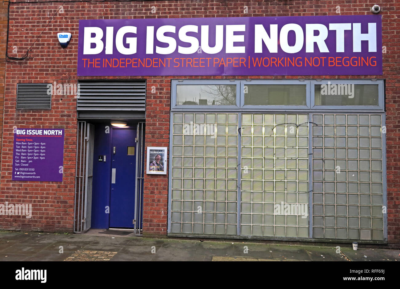 Big Issue North office, 116 Tib Street, NQ, Manchester, England, UK, M4 1LR - Stock Image