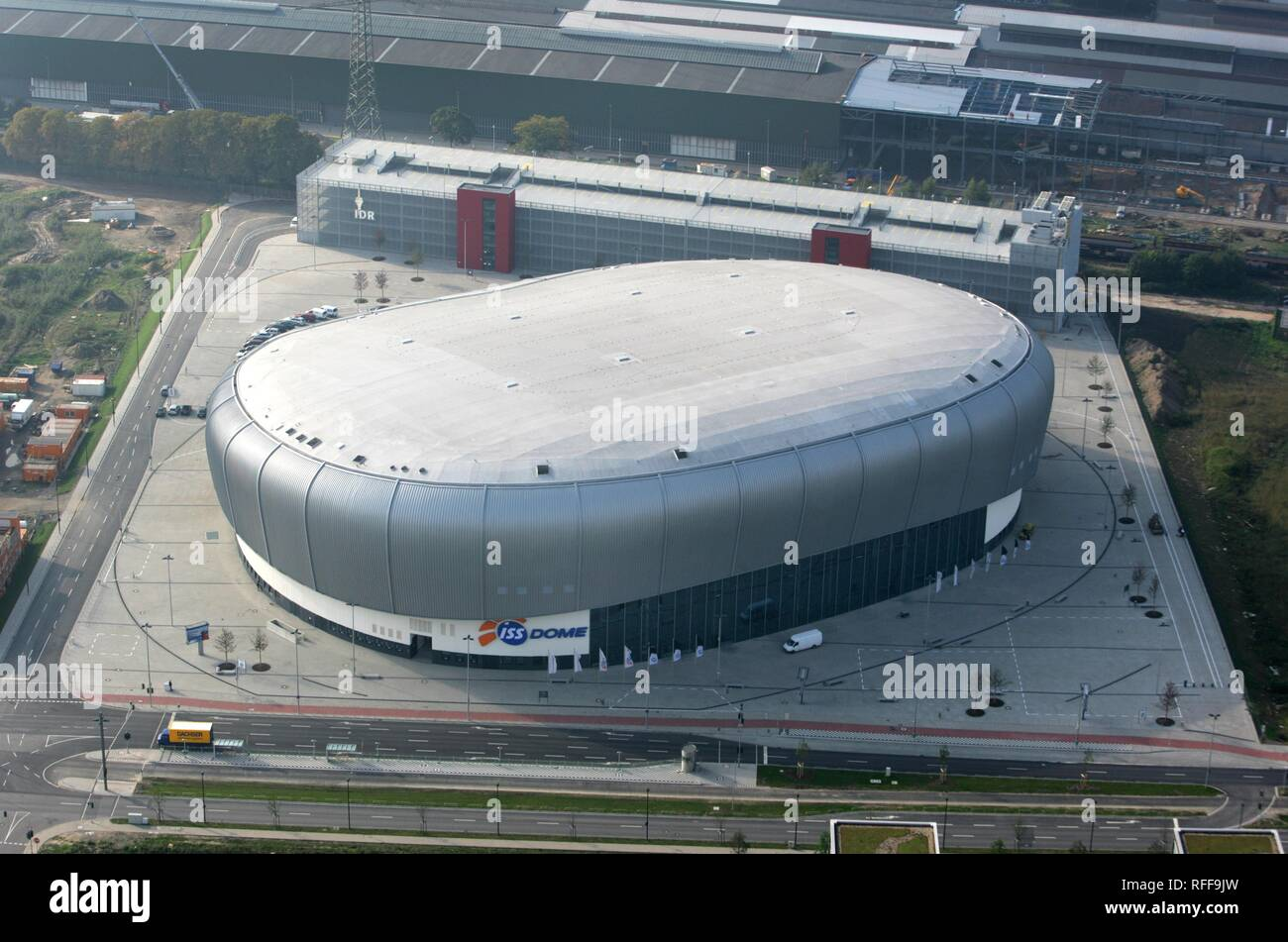 DEU Germany Duesseldorf : Multi functional arena ISS Dome. Home of the ice hockey team DEG Metro Stars. | - Stock Image