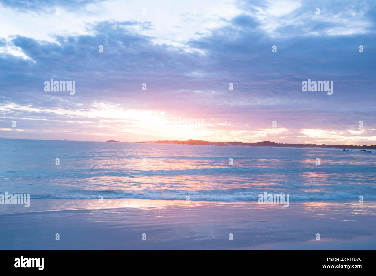 Bay of Fires, Tasmania, Australia - Stock Image