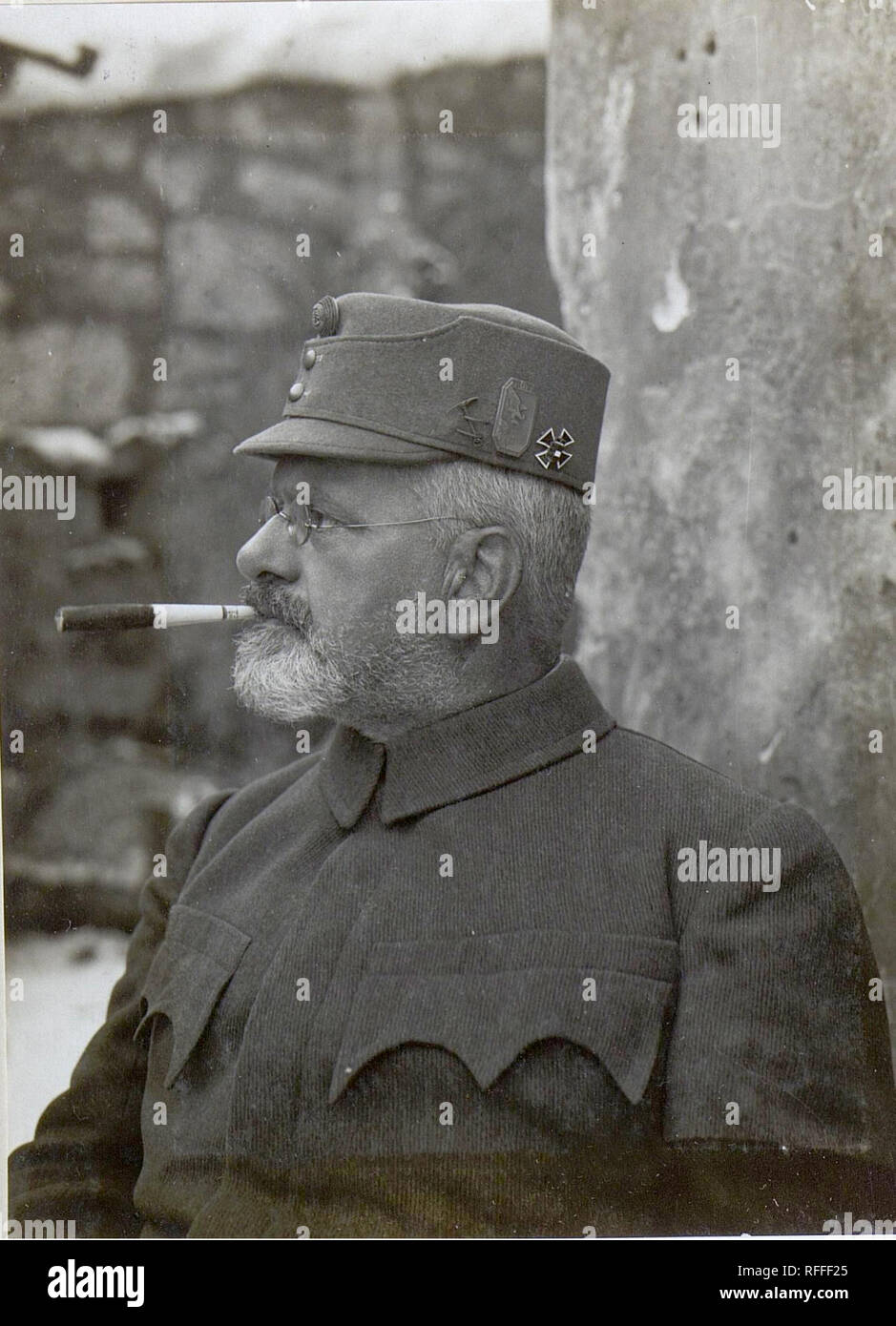 Julius Kugy was a mountaineer, writer, botanist, humanist, lawyer, Austro-Hungarian mountain guide in the First World War Stock Photo