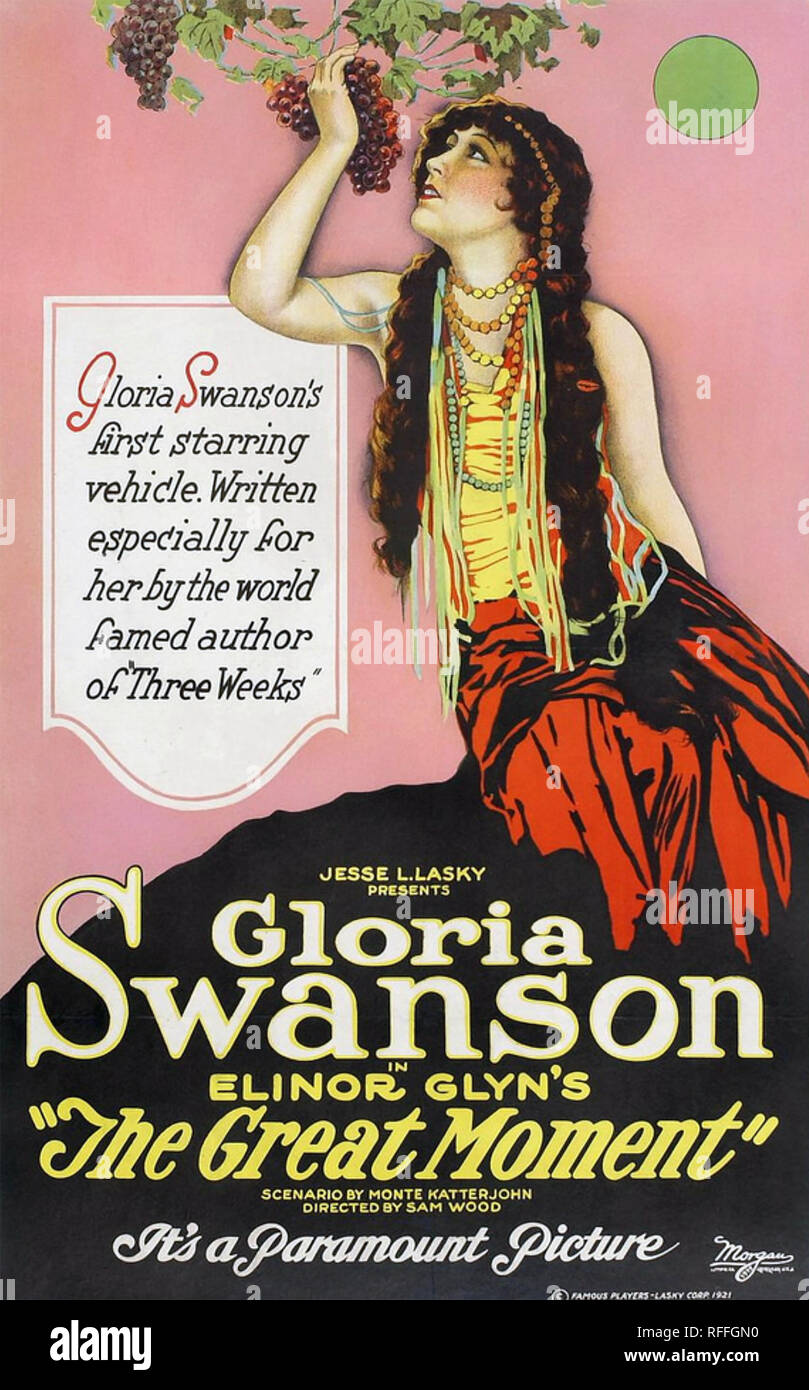 THE GREAT MOMENT 1921 Paramount Pictures film with Gloria Swanson - Stock Image