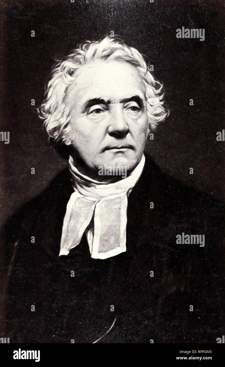 THOMAS CHALMERS (1780-1847) Scottish minister and political economist - Stock Image