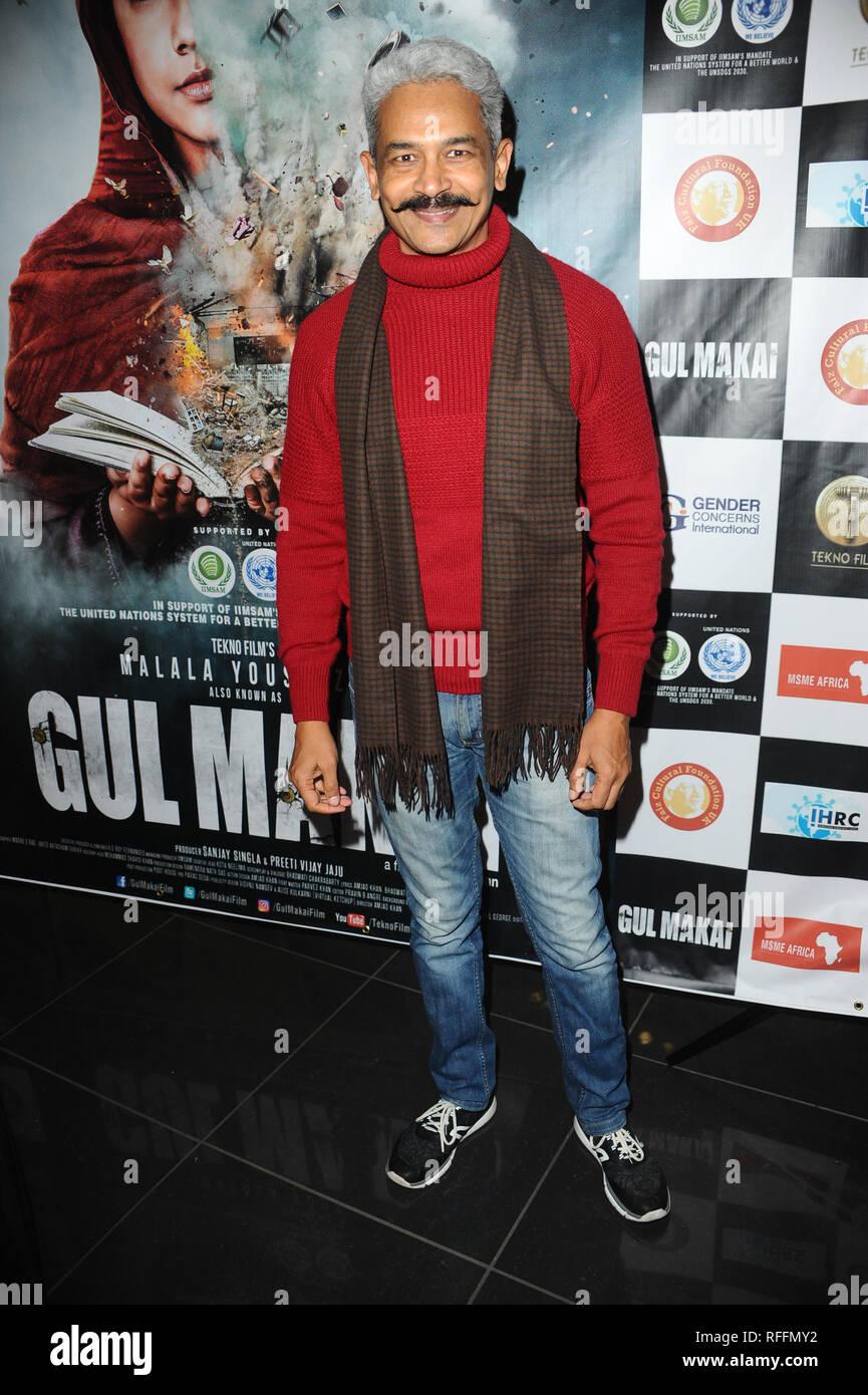 Atul Kulkarni seen Arriving for Gul Makai VIP Screening, Gul