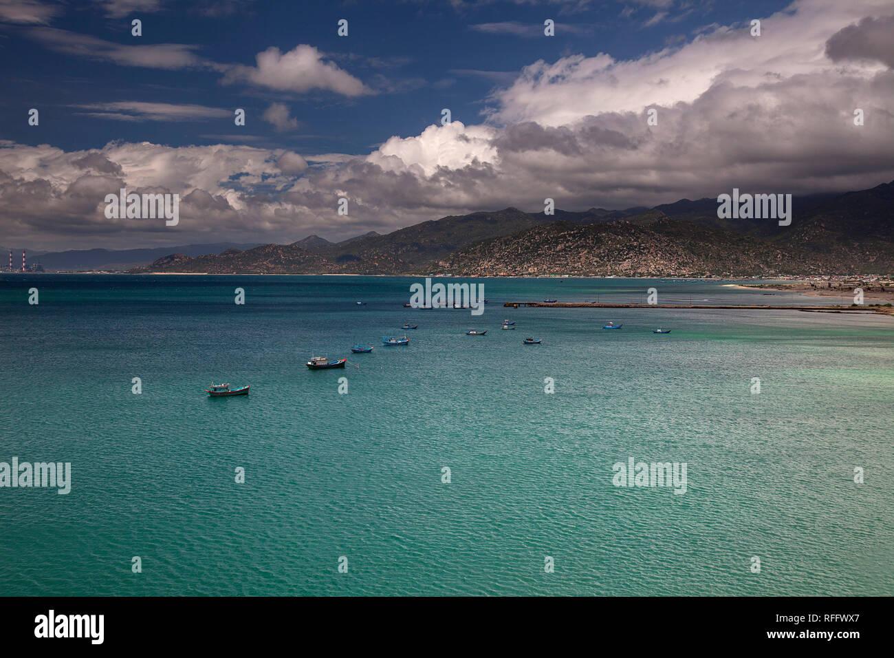 near Vinh Hy, South China Sea, Ninh Thuan, Vietnam - Stock Image