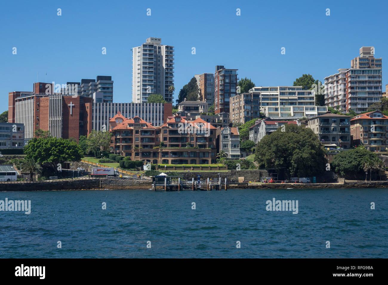 Australia, New South Wales, Sydney, Kirribilli skyline - Stock Image