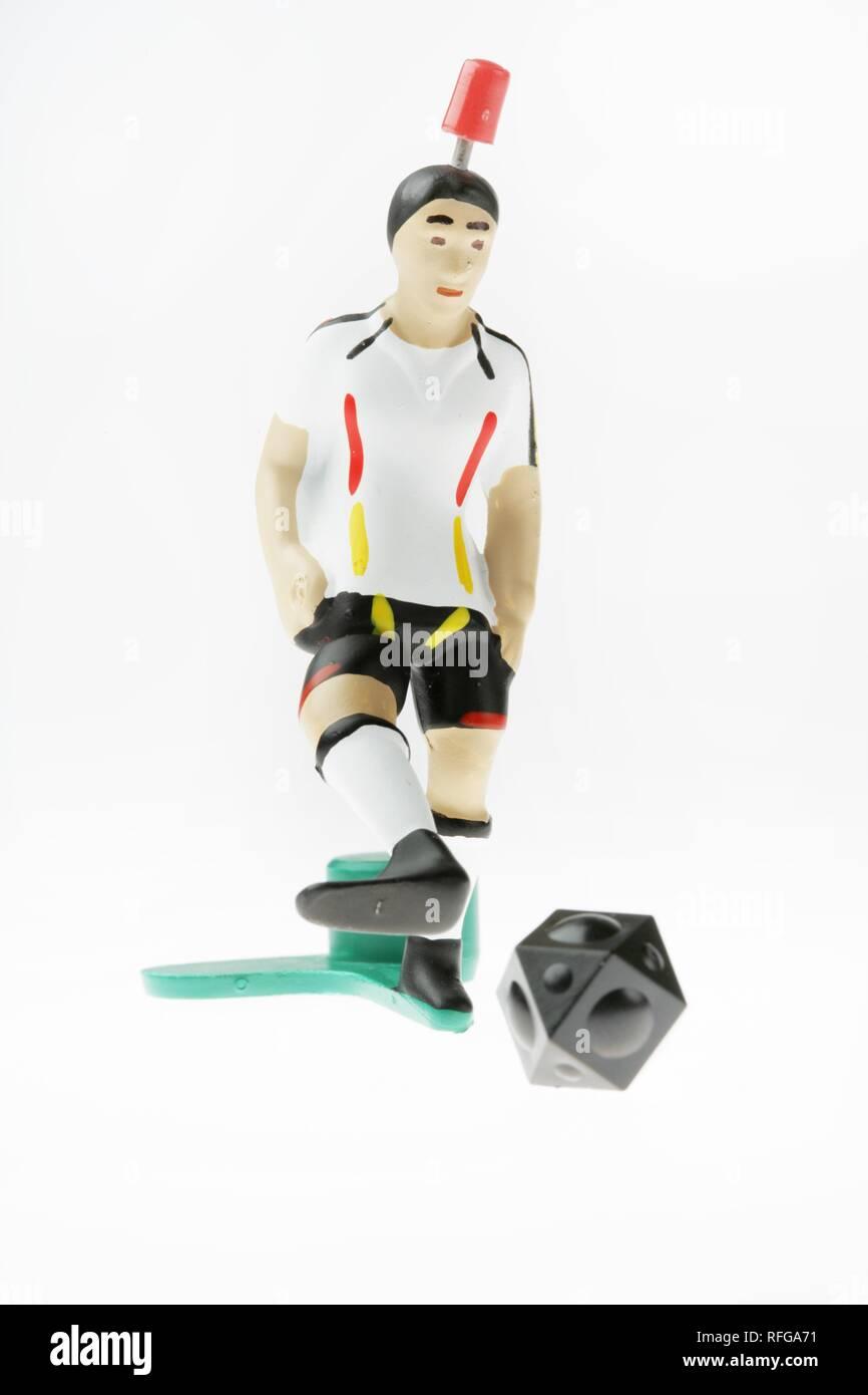 DEU Germany : Tipp Kick Football Soccer Table game german team.   - Stock Image