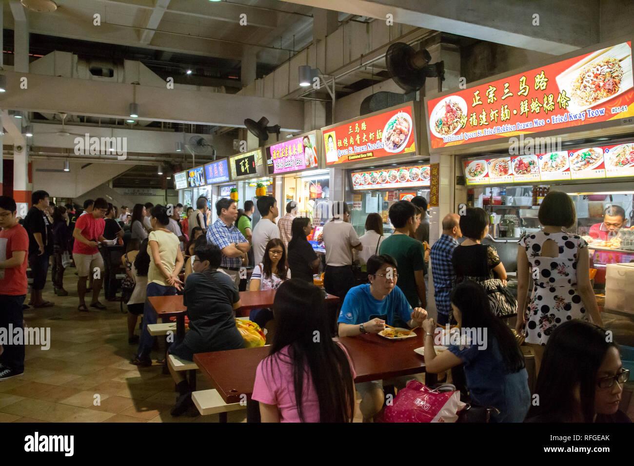 Lau Pa Sat Foodcourt in Singapore - Stock Image