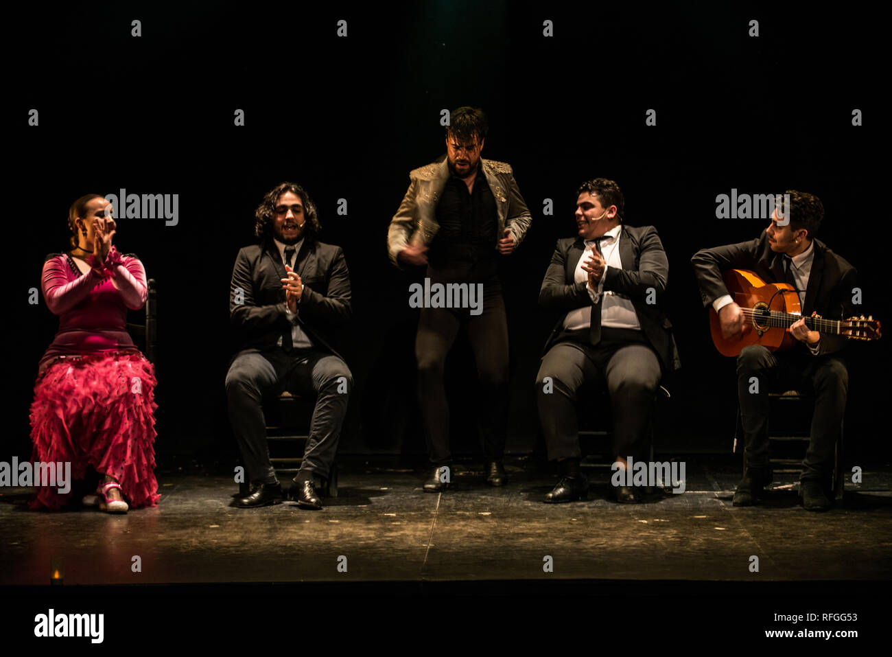'Emociones' Flamenco show, Teatro Flamenco Madrid, January 2019 - Stock Image