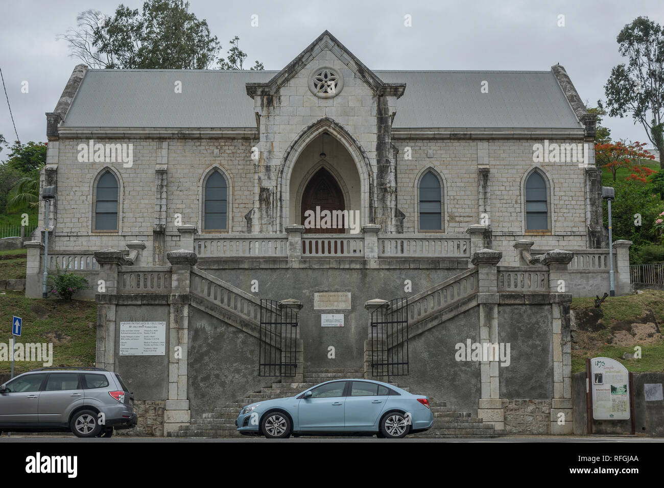 New Caledonia, Noumea, Old Temple, Protestant church - Stock Image