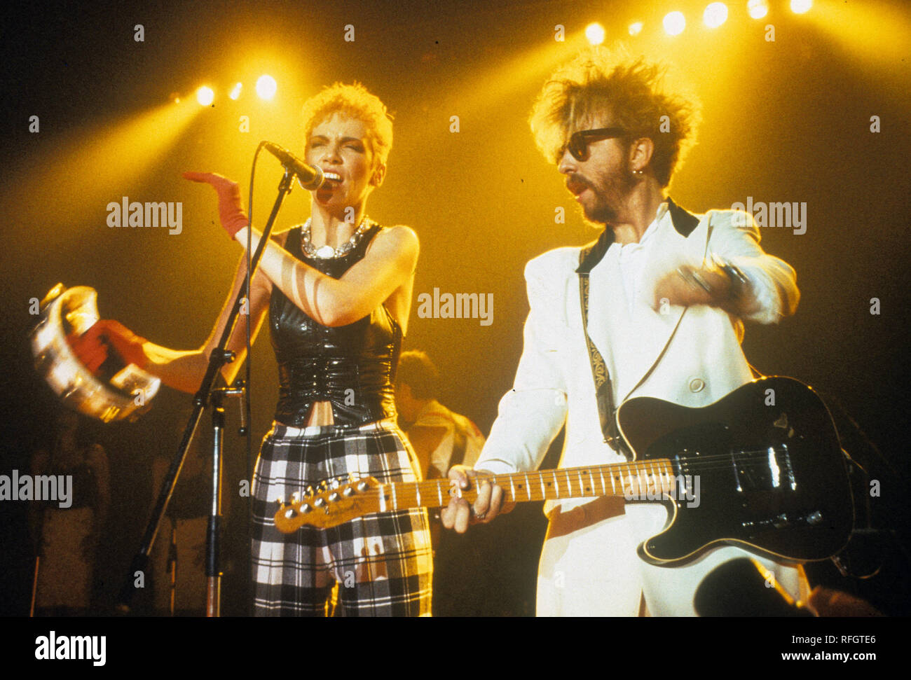 EURYTHMICS UK pop duo with Annie Lennox and David Stewart about 1989 - Stock Image