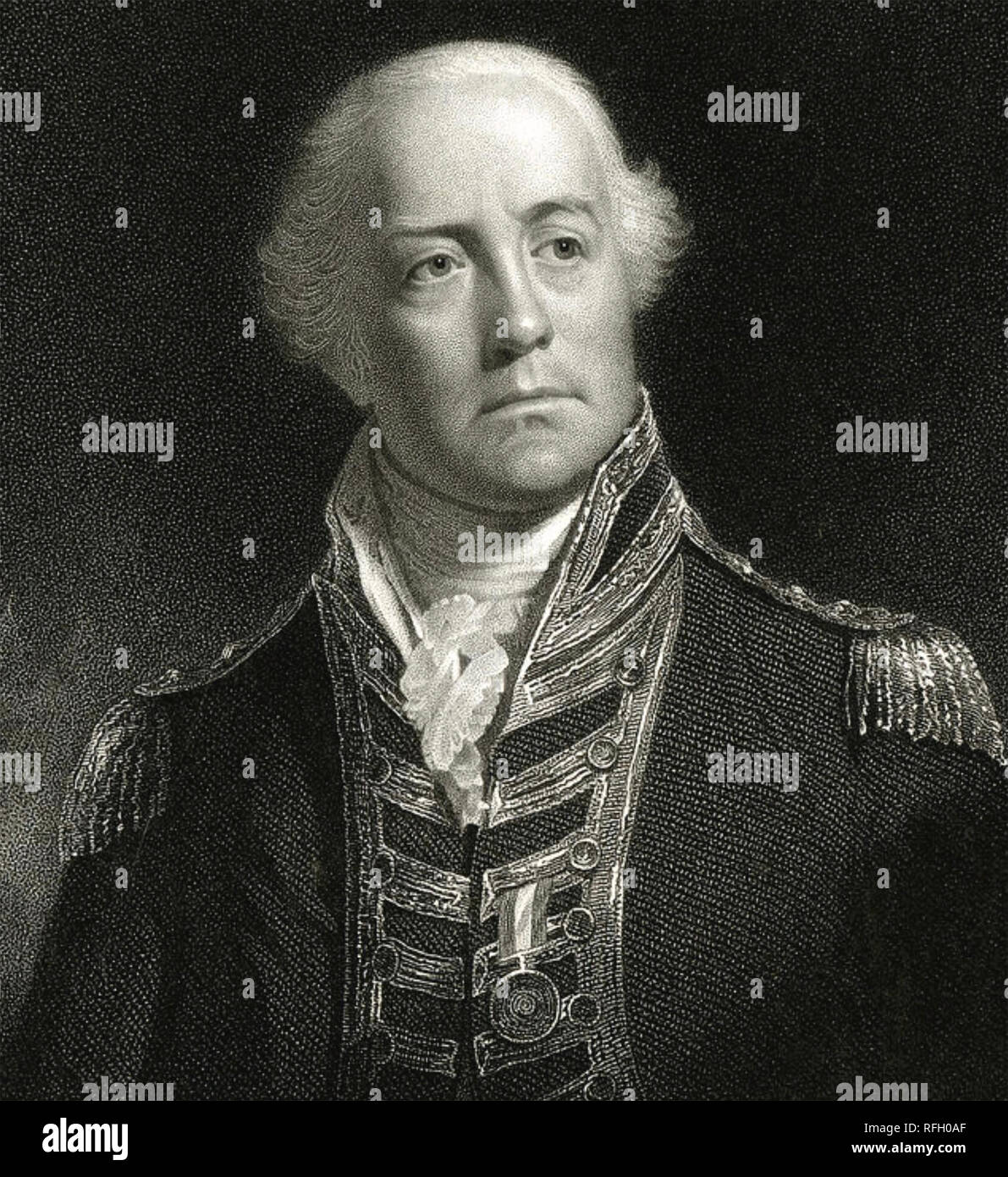 Art 1823 Georgian Print ~ Admiral Lord Viscount Exmouth