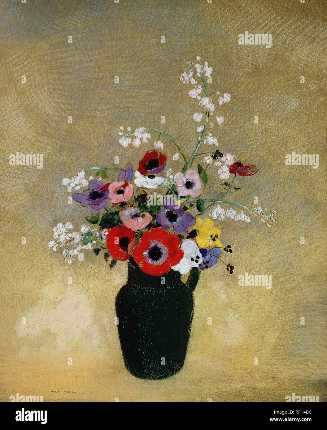 ODILON REDON, VASE OF FLOWERS 2.jpg - RFH4CE Stock Photo