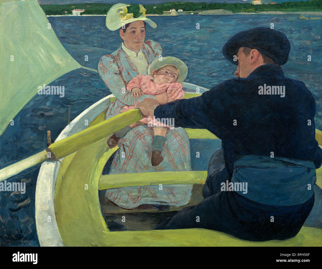 The Boating Party. Date/Period: 1893 - 1894. Painting. Oil on canvas. Height: 900 mm (35.43 in); Width: 1,173 mm (46.18 in). Author: Mary Cassatt. CASSATT, MARY. CASSAT, MARY. Stock Photo