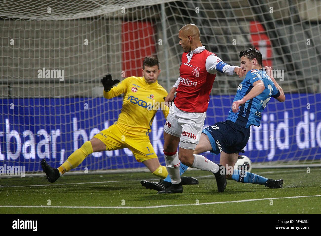 Maastricht Football 25 01 2019 Stadium De Geusselt Mvv