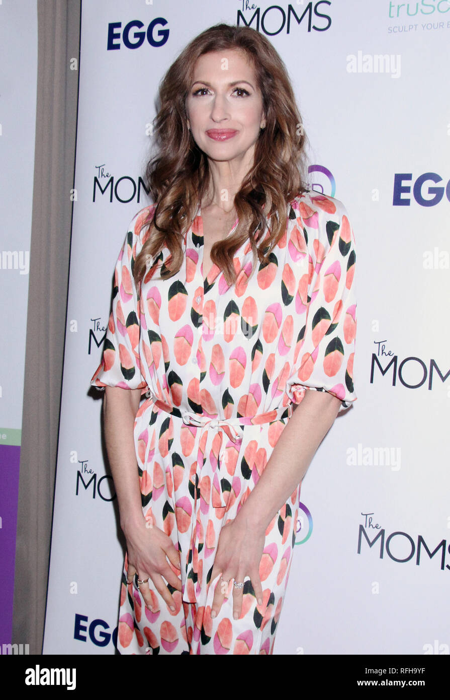 New York, USA. 25th January 2019.  Alysia Reiner at The Moms Mamarazzi screening of Egg in New York City on January 25, 2019. Credit: RW/Mediapunch Credit: MediaPunch Inc/Alamy Live News Stock Photo