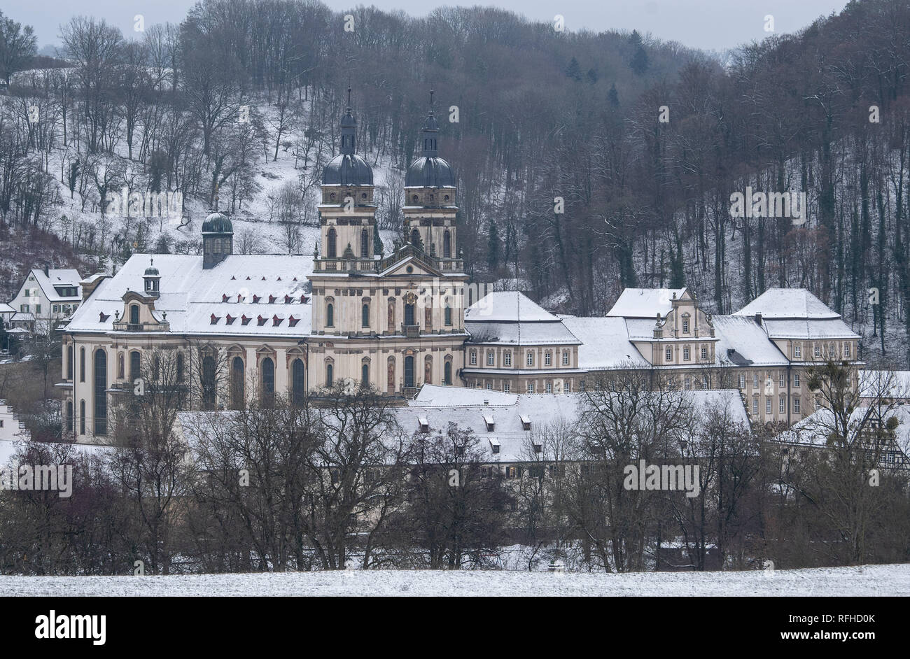 Kloster Schöntal, Baden-Wuerttemberg, Germany. 26th January 2019. The Schöntal Monastery. This is where the CDU Baden-Württemberg's conference for functionaries and elected representatives takes place. Photo: Sebastian Gollnow/dpa Credit: dpa picture alliance/Alamy Live News - Stock Image