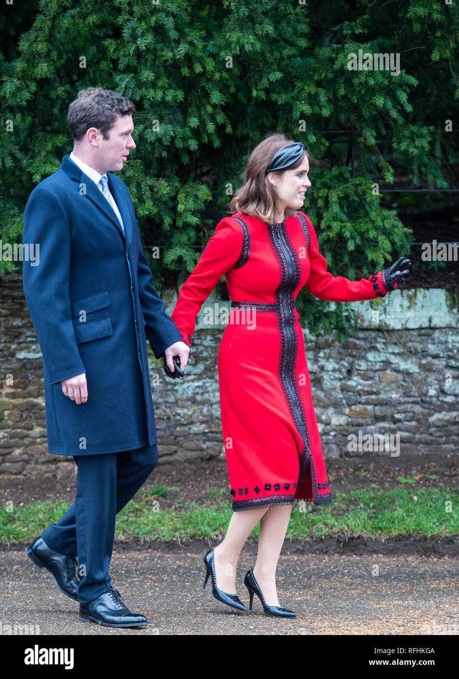 9a461b1c4dc3 ... attends the Christmas Day service at St. Mary Magdalene Church at  Sandringham Featuring: Jack Brooksbank, Princess Eugenie Where:  Sandringham, ...