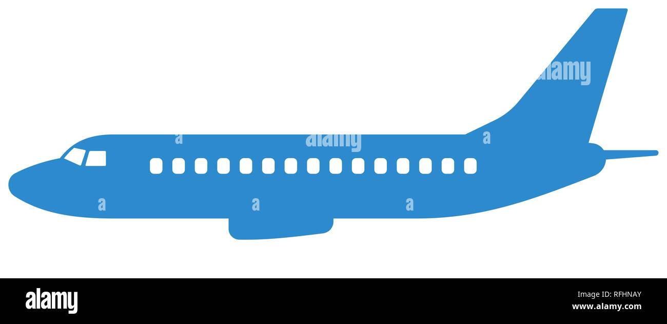airplane silhouette side view