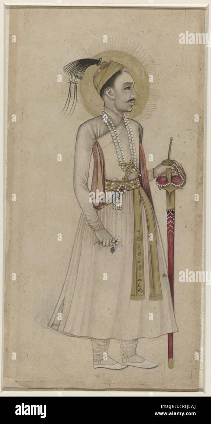 Portrait of Sultan Muhammad Quli Qutb-Shah-of Golconda, Anonymous, c. 1630.jpg - RFJ5WJ  - Stock Image