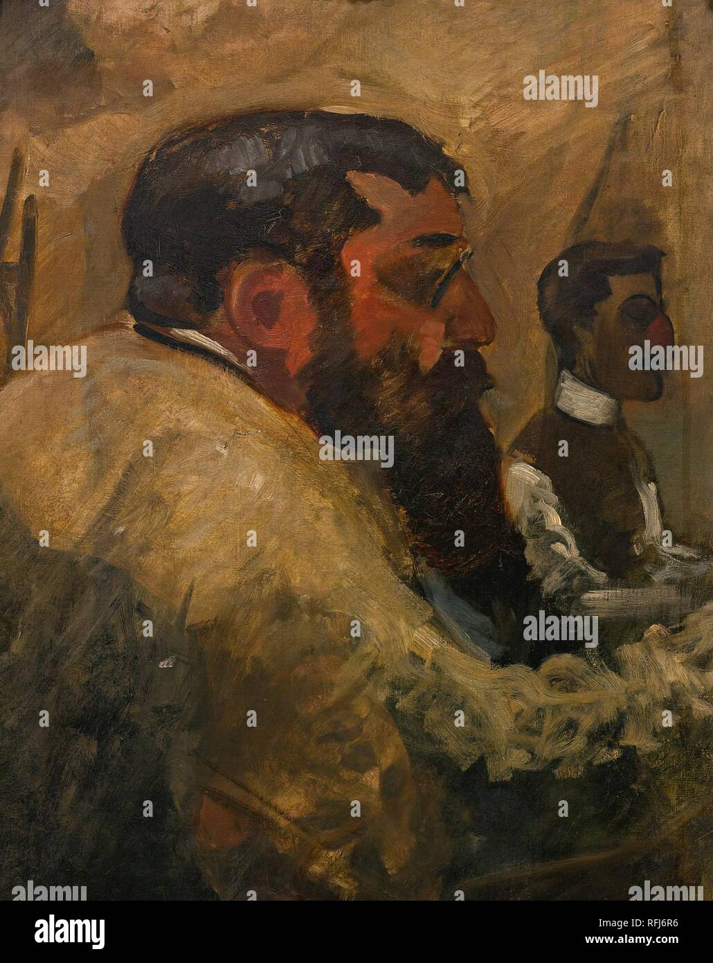 Ren Pierre Charles Princeteau 1840 - 1914 DEUX ARTISTES PEIGNANT.jpg - RFJ6R6 - Stock Image