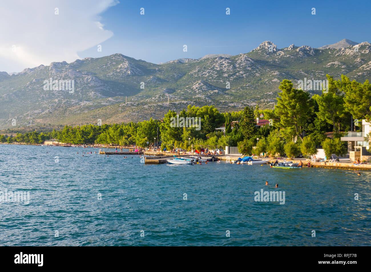Rovanjska, under the mountain Velebit Stock Photo
