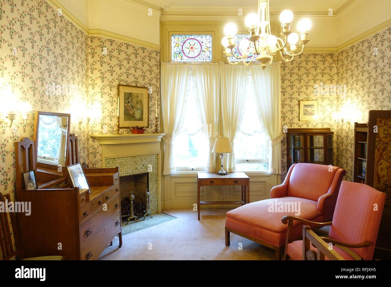Back Bedroom Haas Lilienthal House San Francisco Ca Stock Photo Alamy
