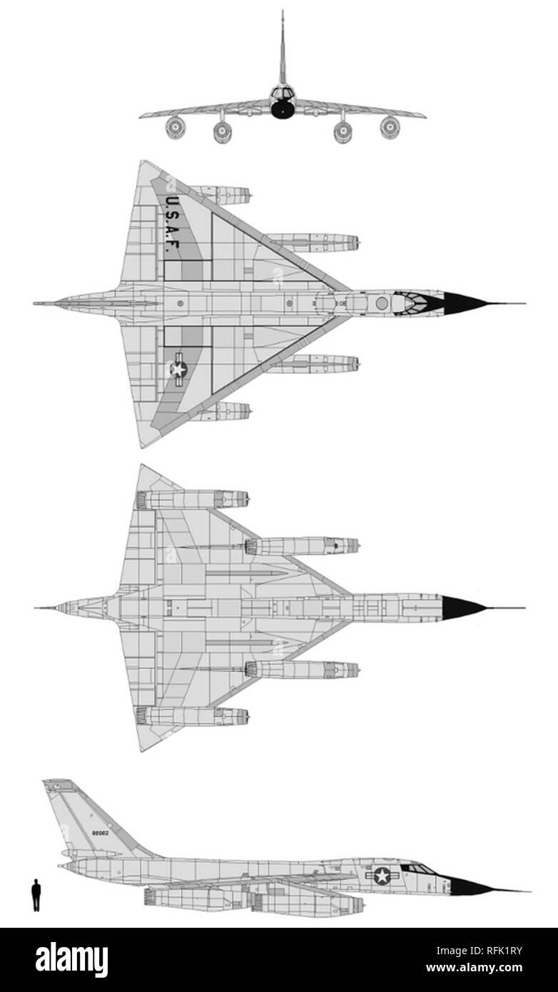 B58 Schematics. - Stock Image