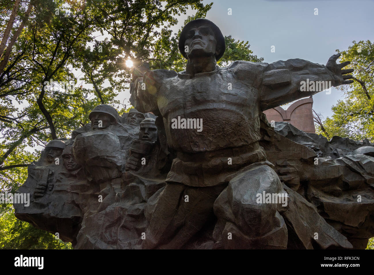 World War II memorial, 1975, Panfilov Park, Almaty, Kazakhstan Stock Photo