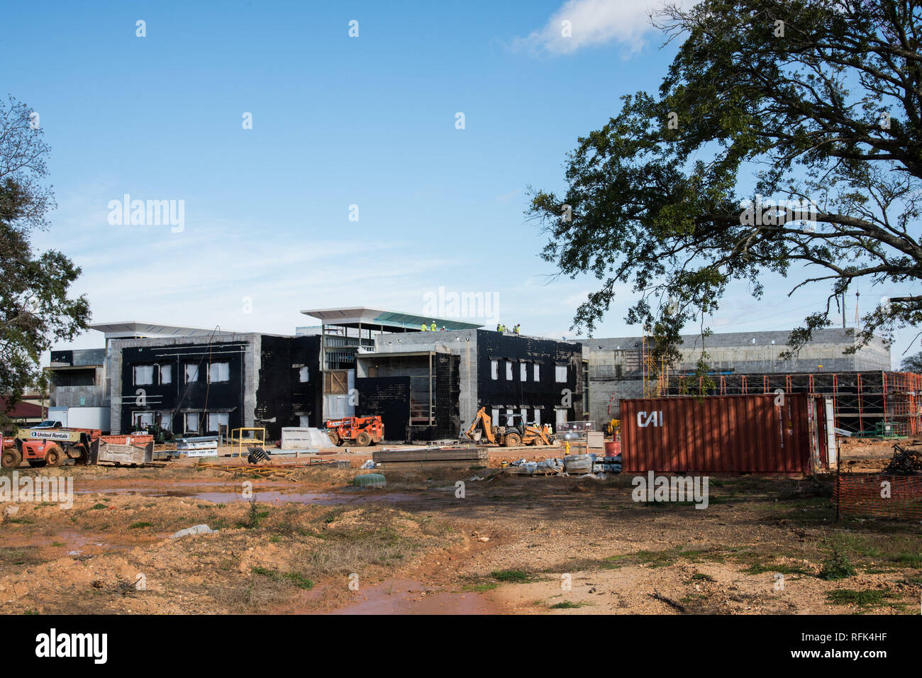 Maxwell AFB, Ala. - Progress photos of on going construction at school on Maxwell AFB January 08, 2019 (U.S. Air Force photo by William Birchfield/Released) - Stock Image