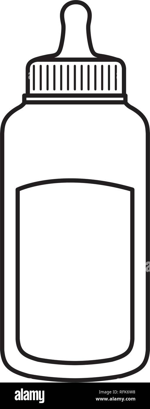 milk bottle baby icon - Stock Vector